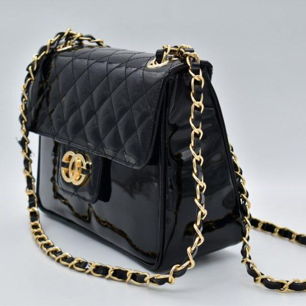 γυναικεία τσάντα ώμου Leo μαύρη 1