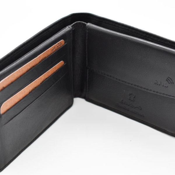 αντρικό πορτοφόλι LAVOR μαύρο/ταμπά