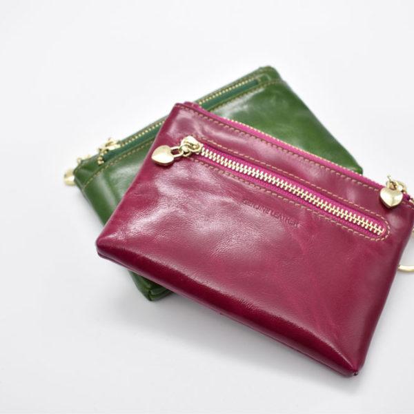 πορτοφόλι-κλειδοθήκη πράσινο/μοβ