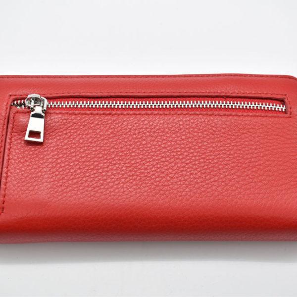 πορτοφόλι κόκκινο φερμουάρ