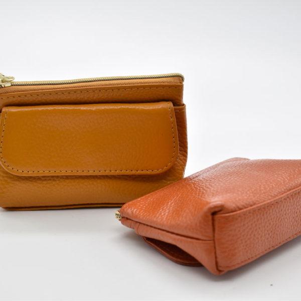 πορτοφόλι/ κλειδοθήκη ταμπά καφέ