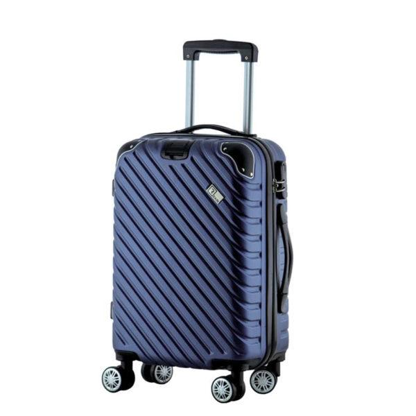 Βαλίτσα καμπίνας trolley με 8 ρόδες και επέκταση, Rain RB 9008C Blue