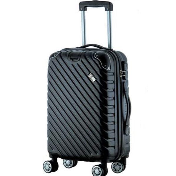 Βαλίτσα καμπίνας trolley με 8 ρόδες και επέκταση, Rain RB 9008C black