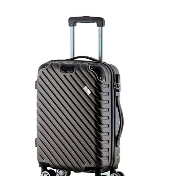 Βαλίτσα καμπίνας trolley με 8 ρόδες και επέκταση, Rain RB 9008C Grey