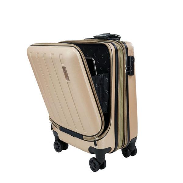 RB8056 RAIN Gold Βαλίτσα καμπίνας με θήκη για laptop και επέκταση (55x40x20+5cm)